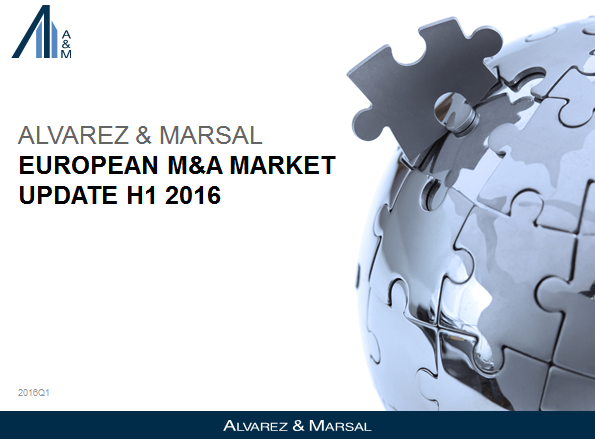 Alvarez & Marsal (A&M) - European M&A Update H1 2016
