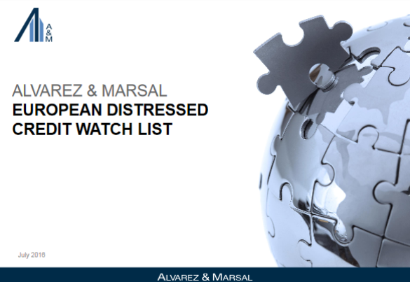 Alvarez & Marsal (A&M) - European Distressed Credit Watch List