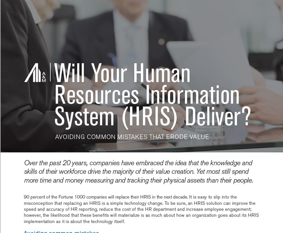 Performance Improvement Consulting | Human Resources Information Systems